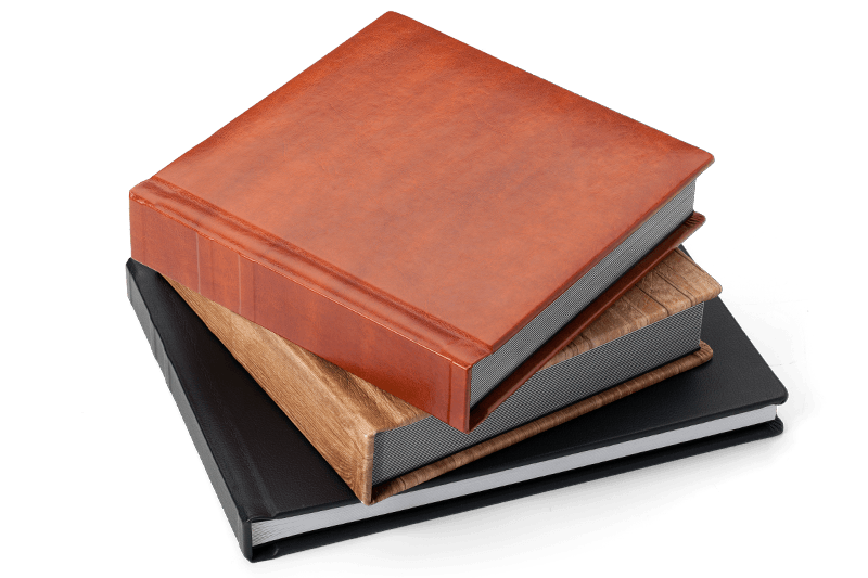 Leatherette, Buckram, Leather, or Your Own Custom Cover Material