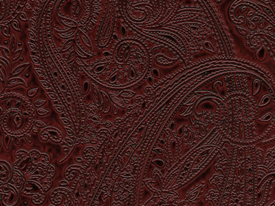 Tooled Paisley Rouge