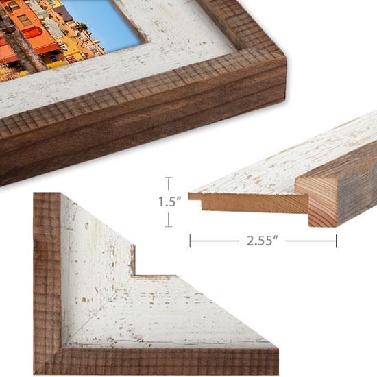 barnwood whitwashed barnwood with cap - Whitewashed Picture Frames
