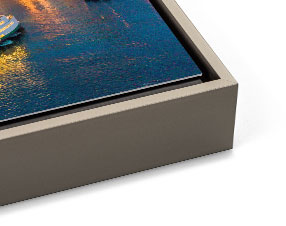 Light Pewter Slim Metal Float Frame