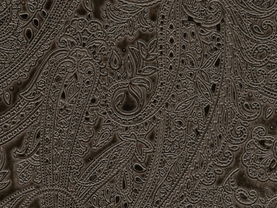 Tooled Paisley Black Pearl