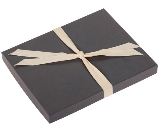 Gray colored Boutique Gift Box Packaging for your photos.